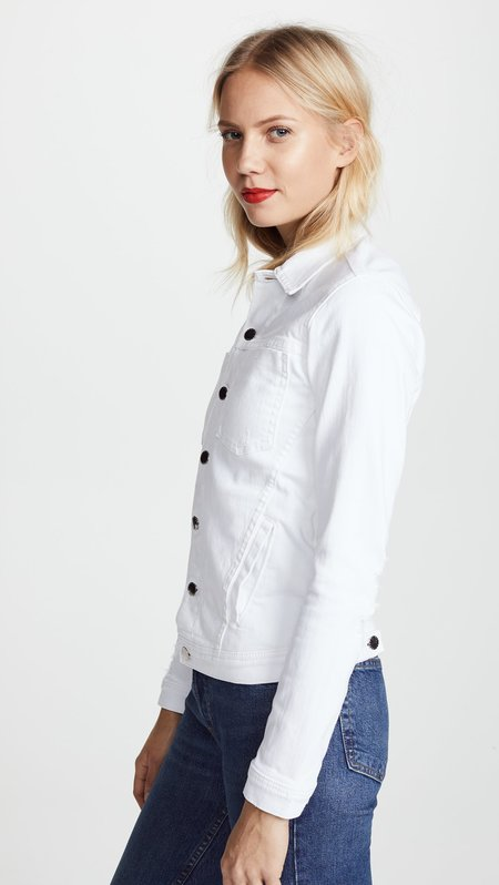 L'agence Celine Distressed Jacket - Blanc