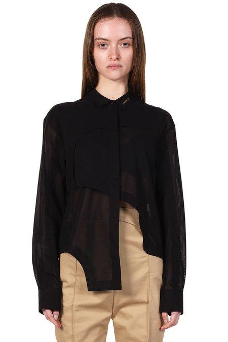 Heliot Emil Layered Sheer Shirt - Black