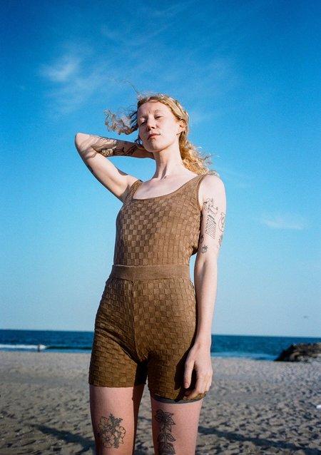 Ajaie Alaie Classic Scooped Neck Bodysuit - Cocoa