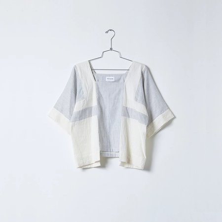 Unisex Atelier Delphine Block Top - Stripe Gauze