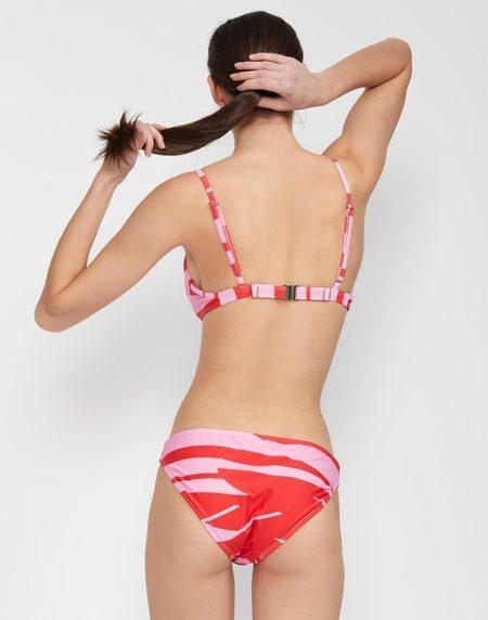 Cynthia Rowley Rosie Bikini Bottom - Pink/Red