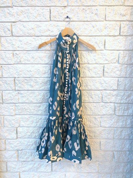 Zimmermann Shelly Swing Mini Dress - Teal Leopard