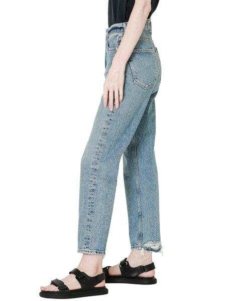AGOLDE Lana Crop Mid Rise Vintage Straight - Emulsion