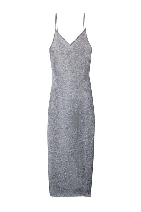 KES Linen Slip Dress - Light Chambray
