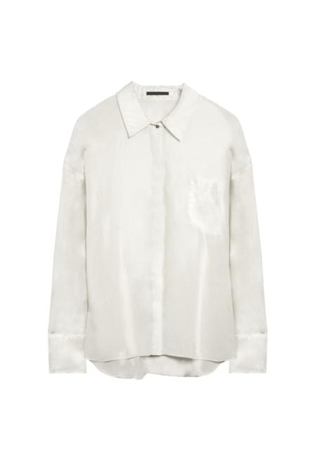 KES Oversized Habotai Men Button Down shirt - Natural