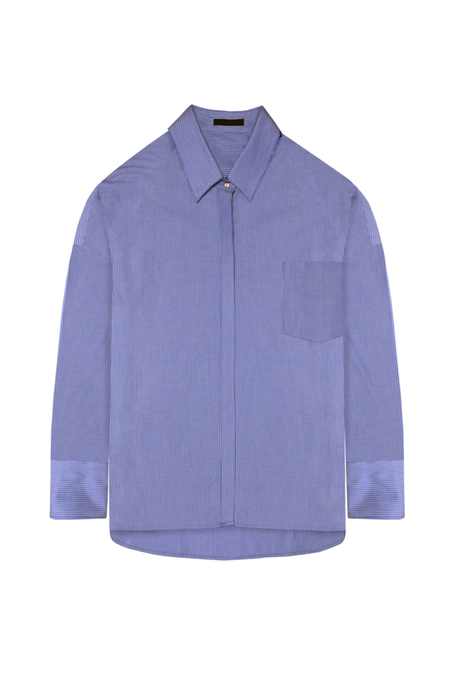 KES Oversized Oxford Shirt - Blue/White Stripes