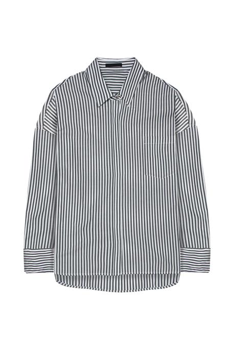 KES Oversized Pinstripe Button Down - Black Stripe