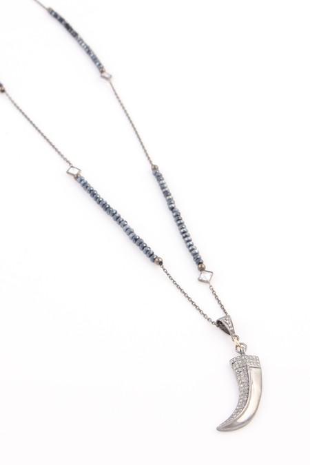 Nickho Rey Midnight Diamond Claw Necklace