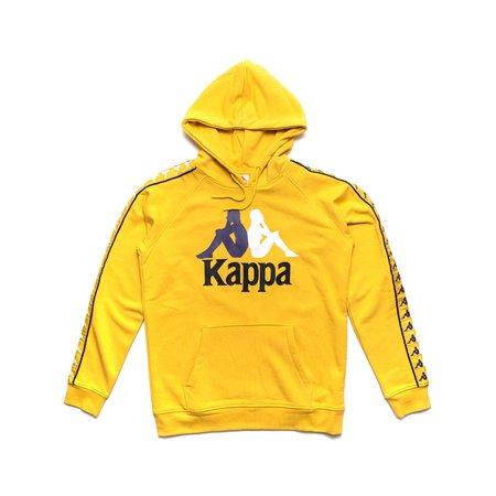Kappa 222 Banda Dunnie Hoodie SWEATER - YELLOW