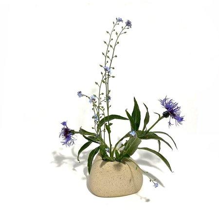 Allison Skinner 4 Blooms Bud Vase - Buff