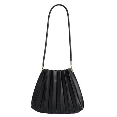 Melie Bianco Carrie Pleated Shoulder Bag - Black