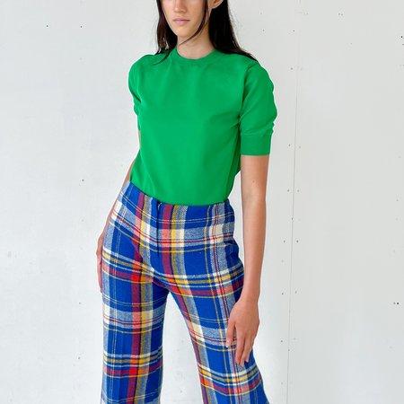 Sloane Boutique Crewneck Knit SWEATER - GREEN