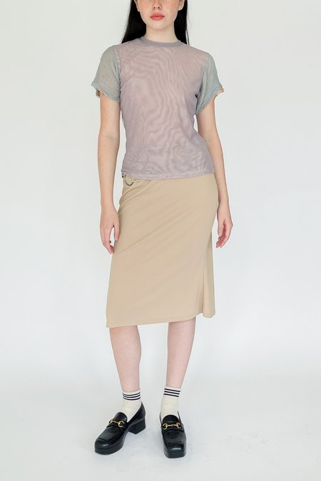 Halo Labels Moiree Mesh Tee - Grey