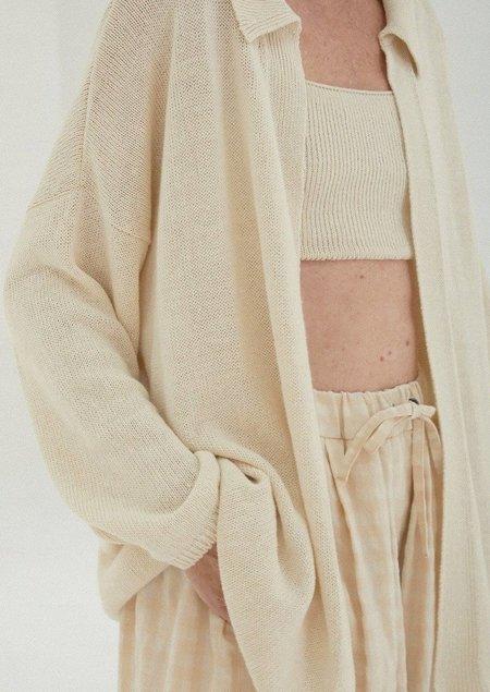 Mónica Cordera Knit Linen Cardigan - Natural