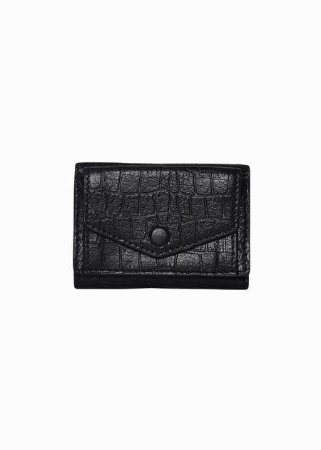 Hyer Goods Mini Tri Wallet - Black