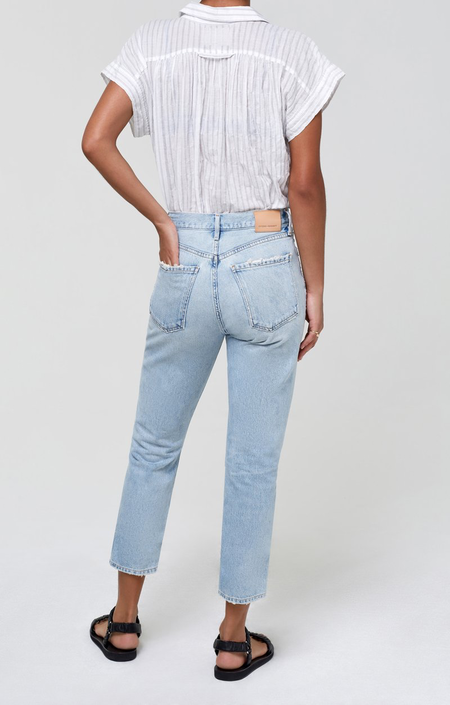Citizens of Humanity Charlotte Crop High Rise Straight denim - blue