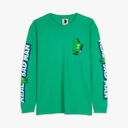Real Bad Man Graphic Content Long Sleeve T-shirt - Green