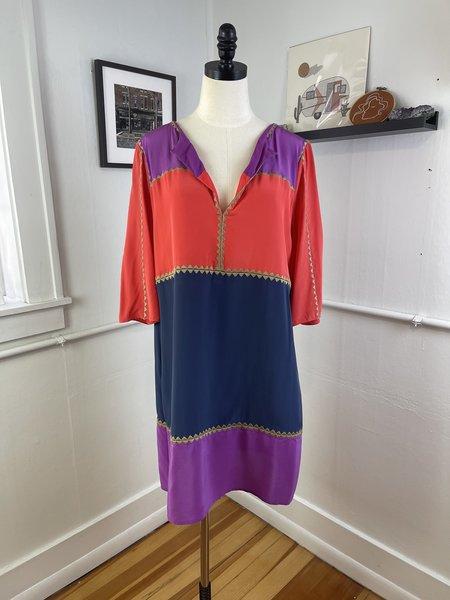 pre-loved lynn synder BCBG Max Azria Silk Tunic Dress - multi