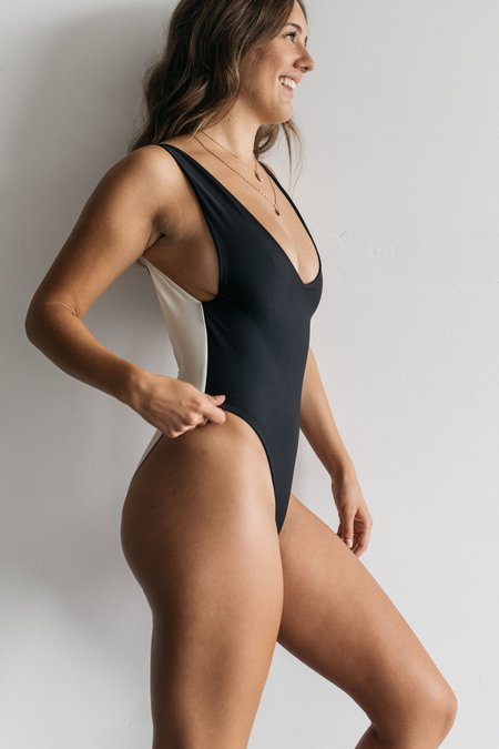 The Saltwater Collective Kylah One Piece - Black/Ivory