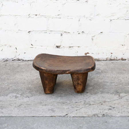 VINTAGE Made Solid Small Senufo Stool - Brown