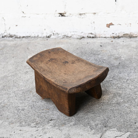 VINTAGE Made Solid Mini Senufo Stool - Brown