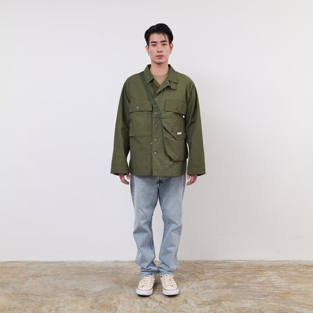 Engineered Garments Cotton Ripstop Shoulder Pouch - Olive