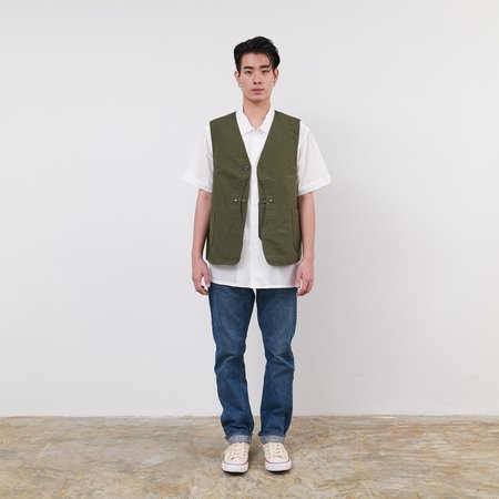 Engineered Garments Cotton Ripstop Upland Vest - Olive