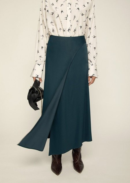 ÁERON Portdebras Wrap Skirt -  Dark green
