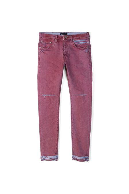 Purple Brand P001 Coral Light Spray Jean