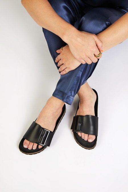 """""""INTENTIONALLY __________."""" CLAIRE sandals - Black"""