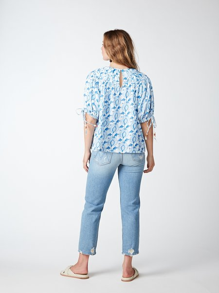 THE ODELLS Lila Top - DOLPHIN MULTI