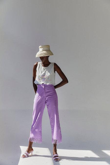 Tach Clothing Rita Linen top - white