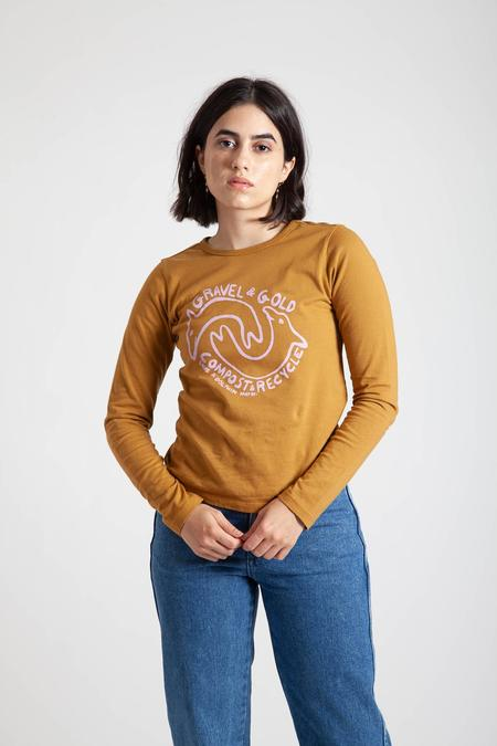 Gravel & Gold Recycle and Compost Long Sleeve - yellow
