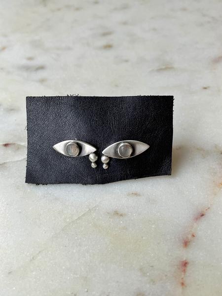 Jane Diaz Crying Eye Studs - Sterling Silver/Labradorite