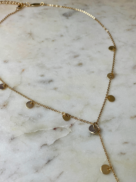 A.V. Max Y Shaped Lunar Charm Necklace - 14K Gold-Plated Brass