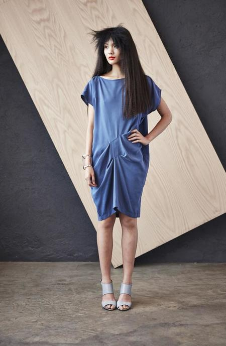 H. Fredriksson Blue Tweak Dress - Blue