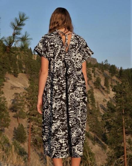 Rachel Comey CACCIA DRESS - Black Multi