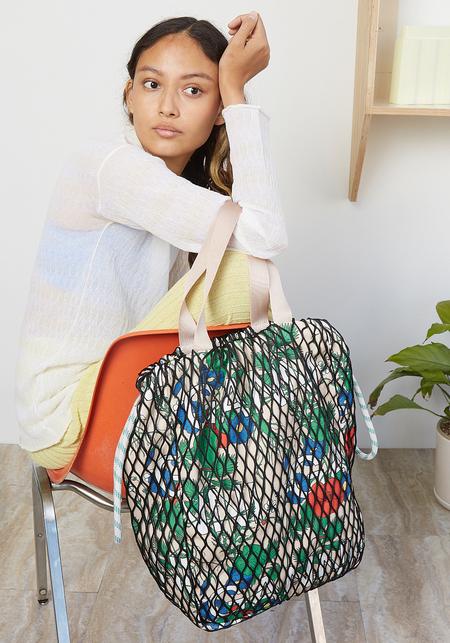 Ganni Fishnet Large Tote Bag