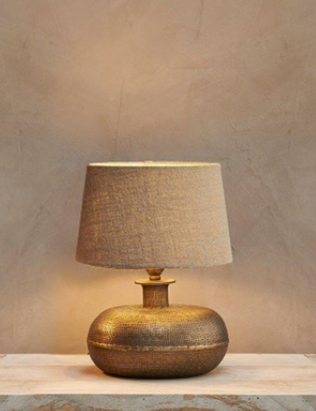 Nkuku Lumbu Small Lamp - Antique Brass