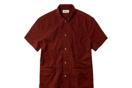 Taylor Stitch Havana Shirt - Rusted Floral Jacquard