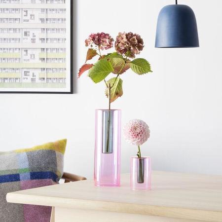 Block Design Limited Reversible Glass Vase - Blue/Red
