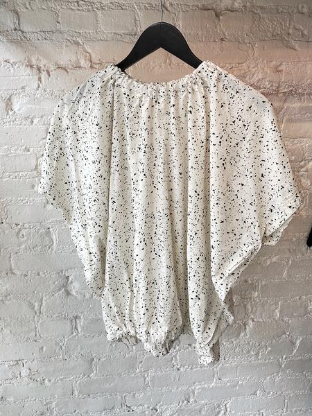 Uzi NYC Nina Blouse - Cream Speckle