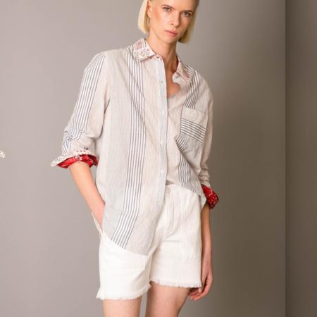 Le Superbe Getting Vertical Ex Bf Shirt - Beach Stripe/White Multi