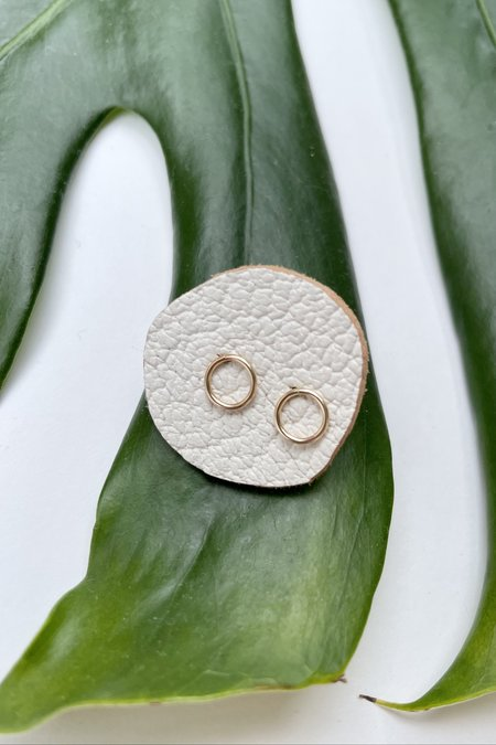 The Minimalist Magnolia Original Circle Earrings