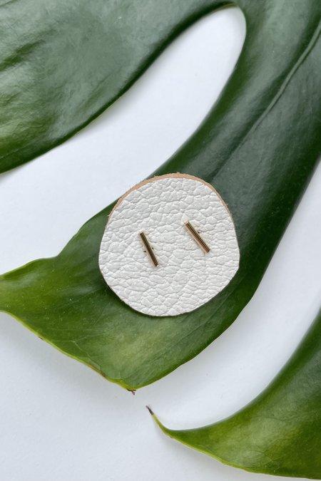 The Minimalist Magnolia Tiny Bar Earrings