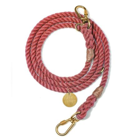 Found My Animal Upcycled Rope Dog Leash - Nantucket Red