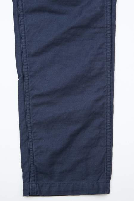OrSlow x Totem Brand Co.  Reverse Cotton Sateen Slim Fit Fatigue Pants - Navy