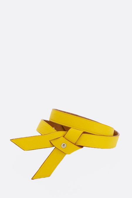 Phi 1.618 Double Twist Leather Bracelet - Yellow