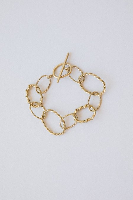 Another Feather Rope Chain Bracelet - Bronze