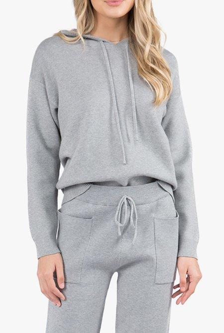 Azalea Ada Knit Hooded Sweatshirt - gray